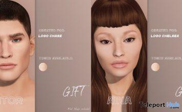 AINA Skin & AITOR Skin For LOGO Mesh Heads 10L Promo by poema - Teleport Hub - teleporthub.com