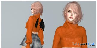 Cropped Turtleneck Sweater & Bat Wings October 2020 Group Gift by COCO Designs - Teleport Hub - teleporthub.com