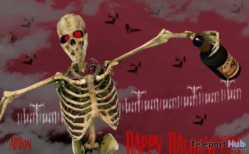Drinking Skeleton Halloween 2020 Gift by Lupus Femina x Topzi Design - Teleport Hub - teleporthub.com