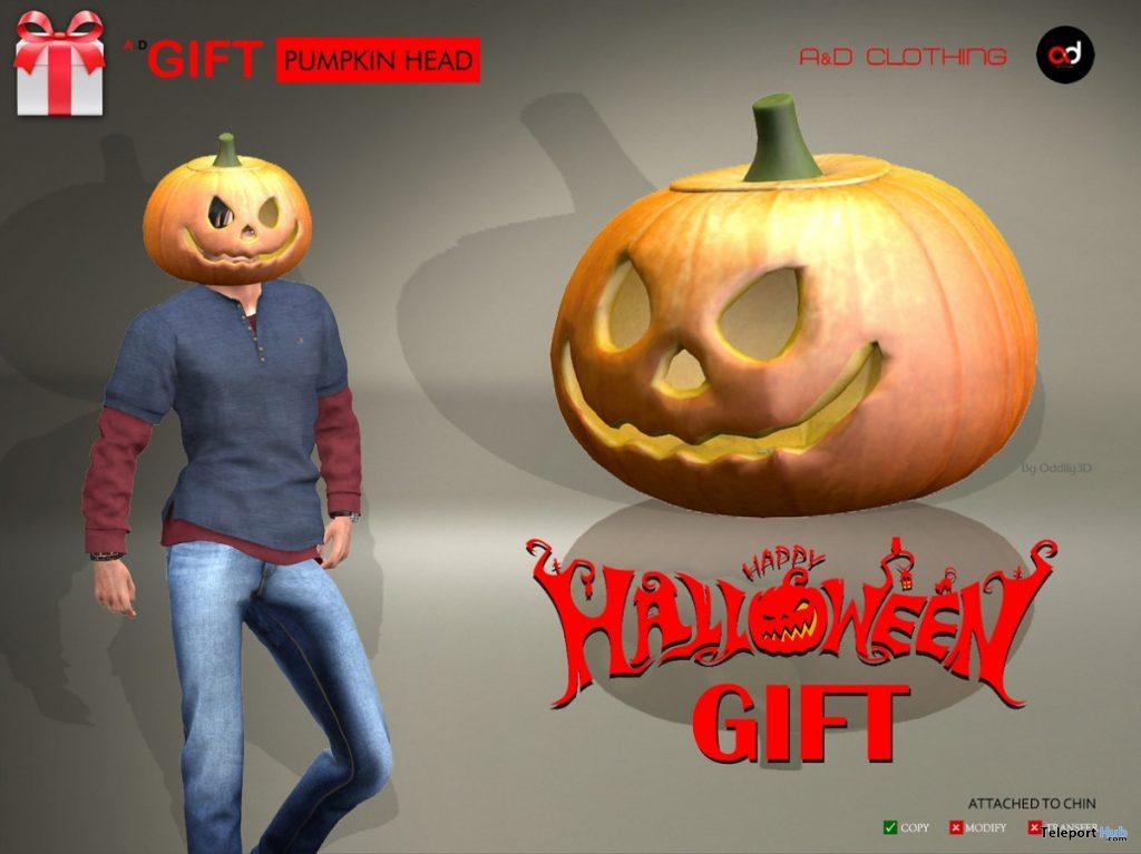 Pumpkin Head Halloween 2020 Gift by A&D Clothing - Teleport Hub - teleporthub.com