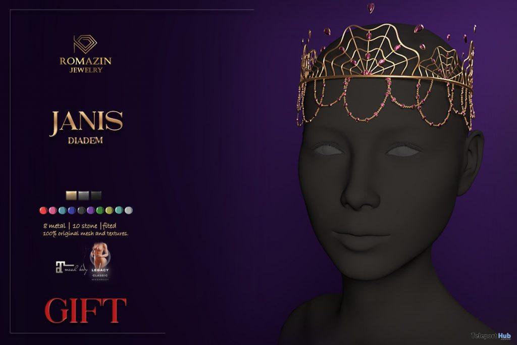 Janis Diadem October 2020 Group Gift by Romazin Jewelry - Teleport Hub - teleporthub.com