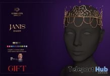 Janis Diadem October 2020 Group Gift by Romazin Jewelry - Teleport Hub - teleporthub.com