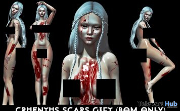 Cruentus Scars BOM Layer October 2020 Group Gift by Quadratus Demise - Teleport Hub - teleporthub.com