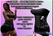 Corset Mini Dress October 2020 Group Gift by BQ-DESIGN - Teleport Hub - teleporthub.com