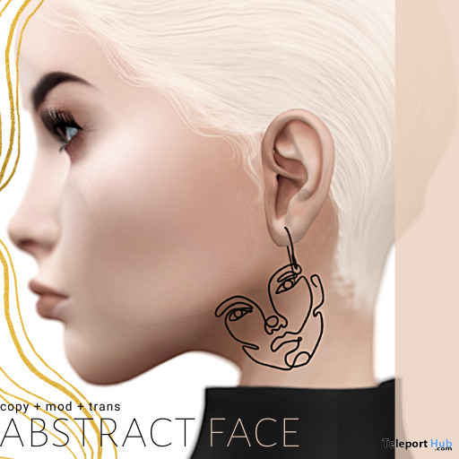 Abstract Face Earrings October 2020 Gift by teabug - Teleport Hub - teleporthub.com