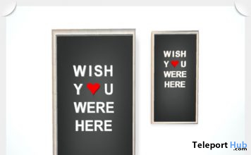 """Wish You Were Here"" Framed Sign Black 1L Promo Gift by NO RUSH - Teleport Hub - teleporthub.com"