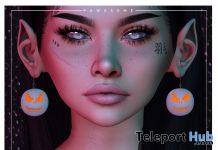Jack O'Lantern Earrings October 2020 Group Gift by Pawesome! - Teleport Hub - teleporthub.com