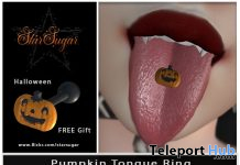 Pumpkin Tongue Ring October 2020 Gift by Star Sugar - Teleport Hub - teleporthub.com
