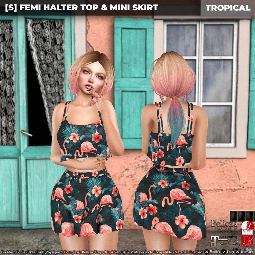 New Release: [S] Femi Halter Top & Mini Skirt by [satus Inc] - Teleport Hub - teleporthub.com