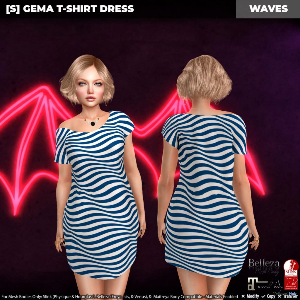 New Release: [S] Gema T-Shirt Dress by [satus Inc] - Teleport Hub - teleporthub.com