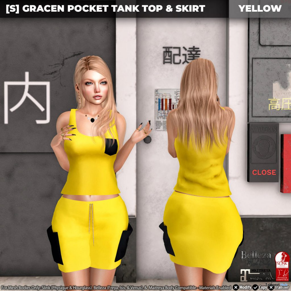New Release: [S] Gracen Pocket Tank Top & Skirt by [satus Inc] - Teleport Hub - teleporthub.com