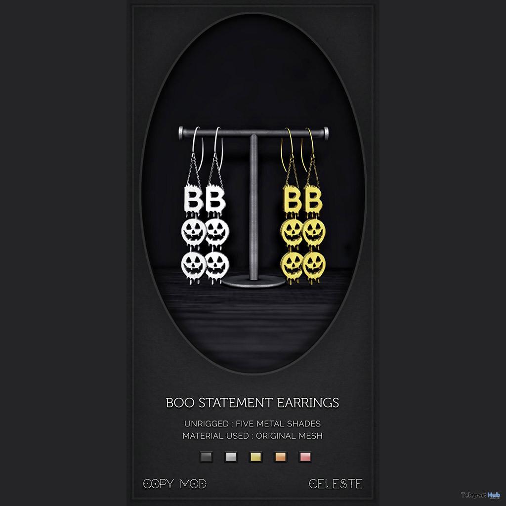 Boo Statement Earrings October 2020 Group Gift by CELESTE - Teleport Hub - teleporthub.com