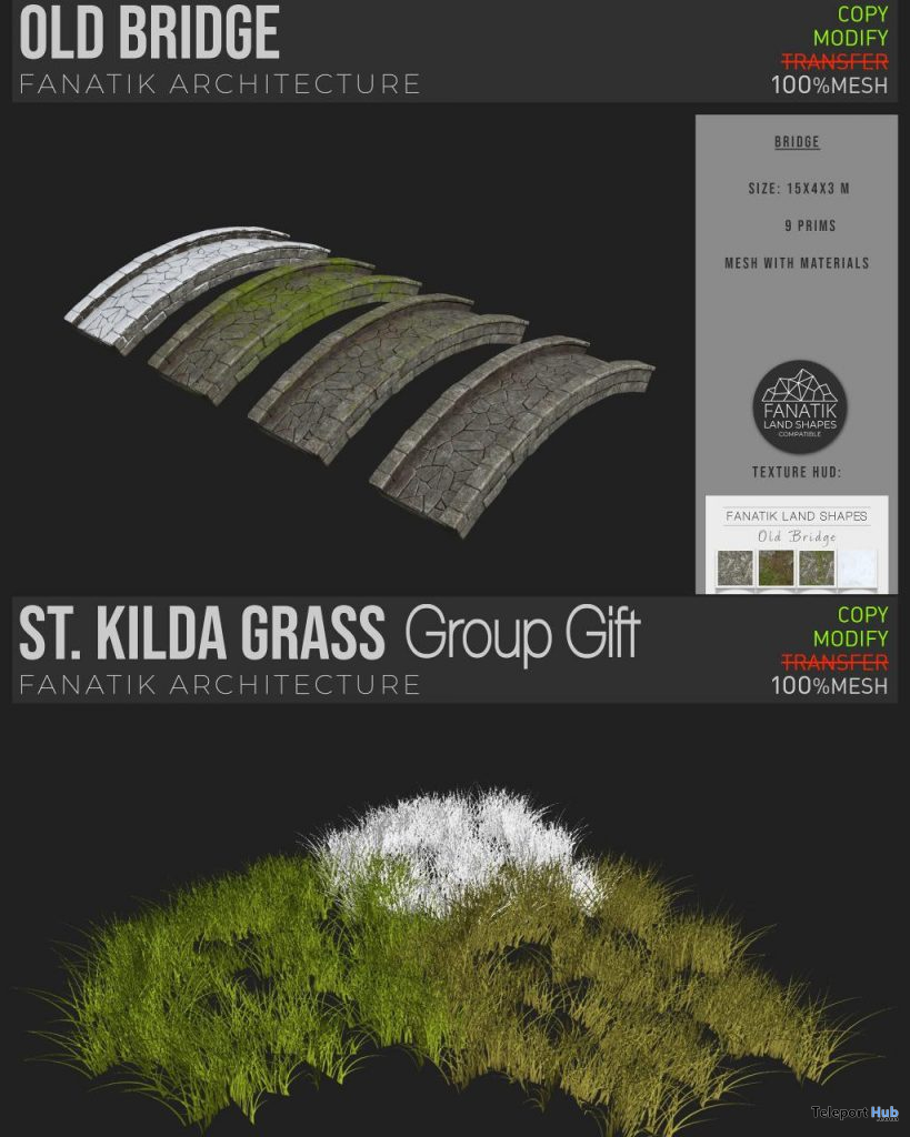 St. Kilda Grass & Old Bridge October 2020 Group Gift by Fanatik - Teleport Hub - teleporthub.com