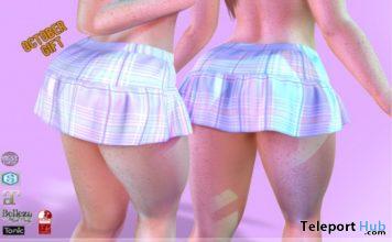 Plaid Skirt October 2020 Gift by KYMILE - Teleport Hub - teleporthub.com