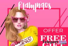 Yellow Retro Basic T-Shirt & Pink Shorts November 2020 Group Gift by Flamingos - Teleport Hub - teleporthub.com