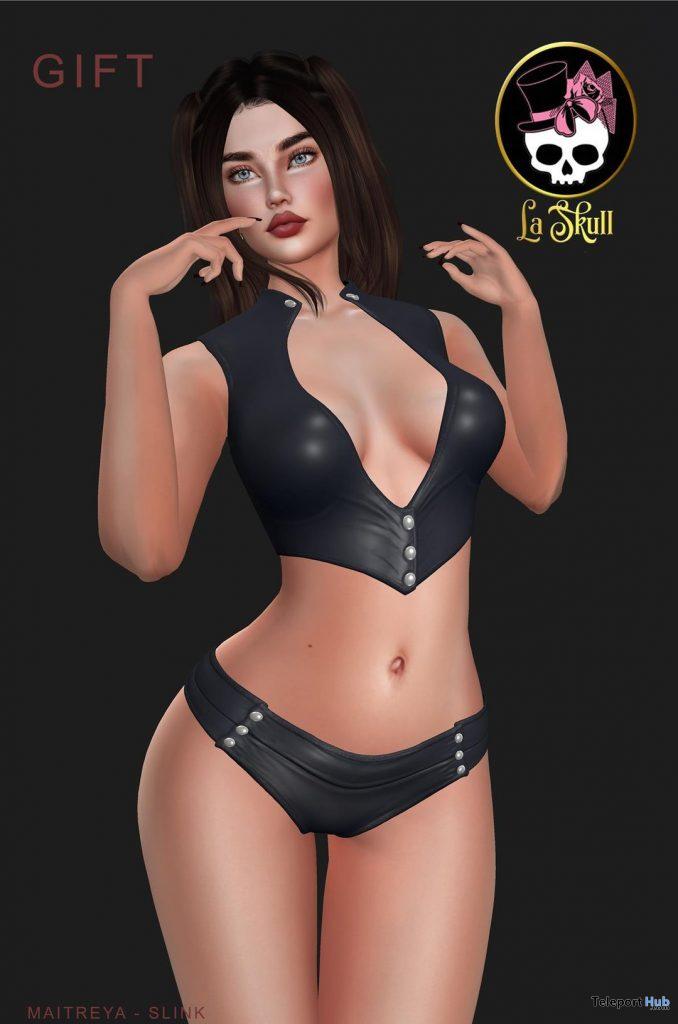 Black Top and Mini Shorts November 2020 Group Gift by LA SKULL - Teleport Hub - teleporthub.com