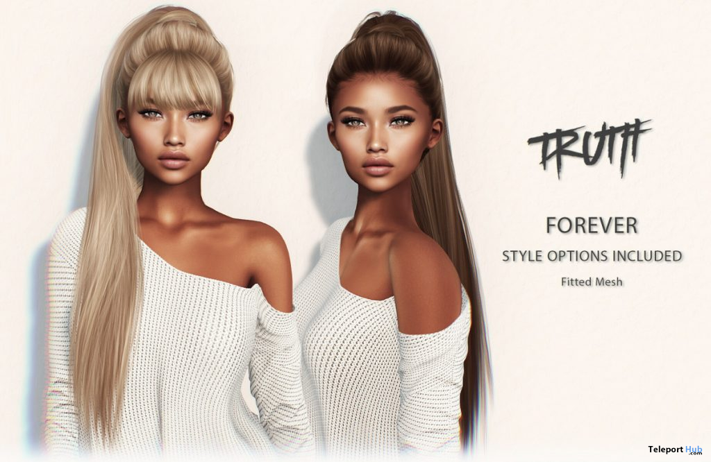 Forever Hair Fatpack With Style HUD Group Gift by TRUTH HAIR - Teleport Hub - teleporthub.com