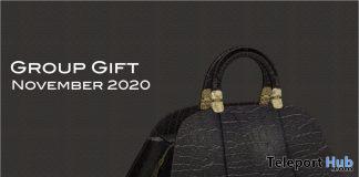 Black Leather Handbag November 2020 Group Gift by Selene Creations - Teleport Hub - teleporthub.com