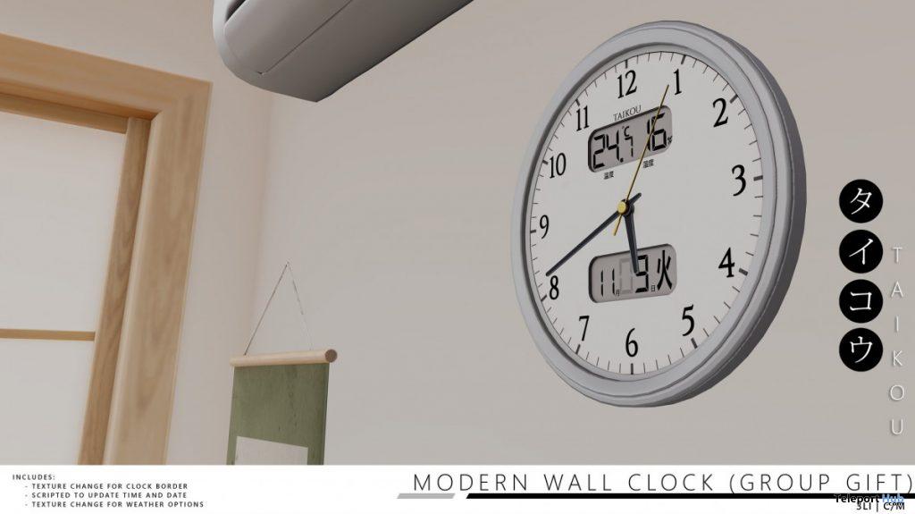 Modern Wall Clock November 2020 Group Gift by taikou - Teleport Hub - teleporthub.com