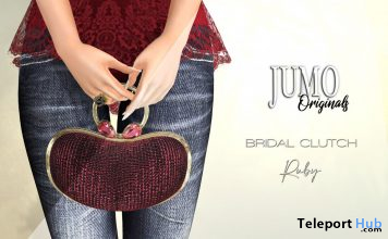 BRIDAL Clutch Ruby November 2020 Gift by JUMO Originals - Teleport Hub - teleporthub.com