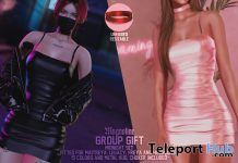 Midnight Dress & Choker November 2020 Group Gift by Magnoliac - Teleport Hub - teleporthub.com