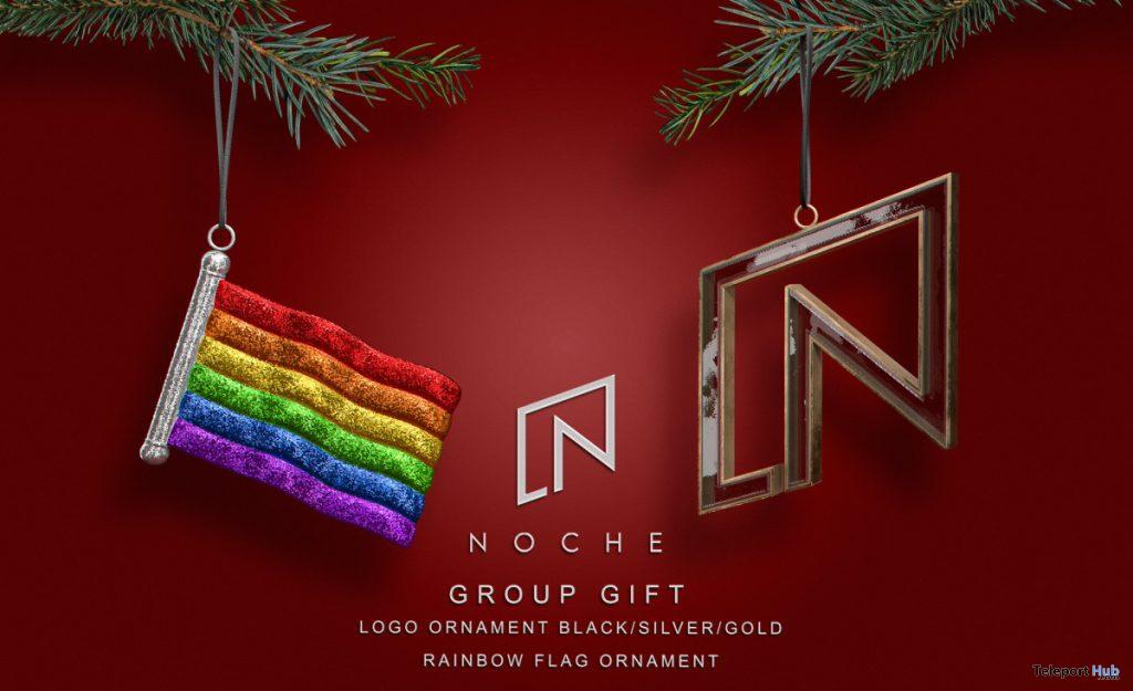 Logo & Rainbow Flag Ornaments November 2020 Group Gift by Noche - Teleport Hub - teleporthub.com