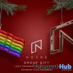 Logo & Rainbow Flag Ornaments November 2020 Group Gift by Noche - Teleport Hub - teleporthub.com