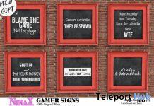 Gamer Signs November 2020 Group Gift by NinaX - Teleport Hub - teleporthub.com