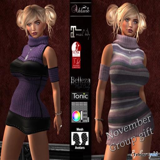 Sweater Dress November 2020 Group Gift by Ahlure - Teleport Hub - teleporthub.com