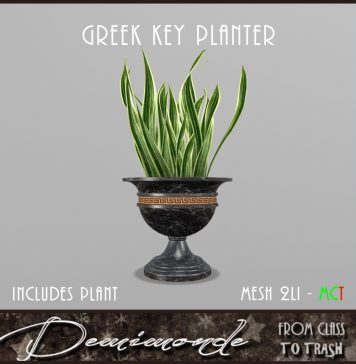 Greek Key Planter with Snake Plant November 2020 Gift by Demimonde - Teleport Hub - teleporthub.com