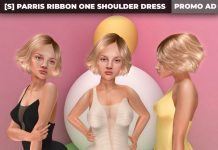 New Release: [S] Parris Ribbon One Shoulder Dress by [satus Inc]  - Teleport Hub - teleporthub.com