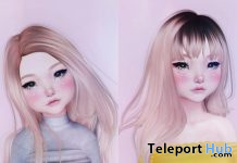 Rose & Girim Hair Fatpack November 2020 Group Gift by pr!tty - Teleport Hub - teleporthub.com