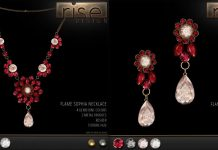 Flame Sophia Necklace & Earrings Group Gift by Rise Design - Teleport Hub - teleporthub.com