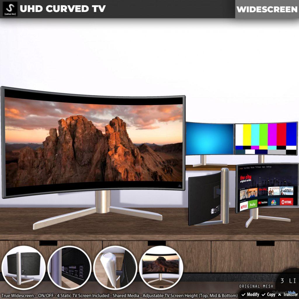 New Release: UHD Curved TV by [satus Inc] - Teleport Hub - teleporthub.com