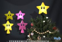 Starpower Tree Topper December 2020 Group Gift by Sweet Thing - Teleport Hub - teleporthub.com