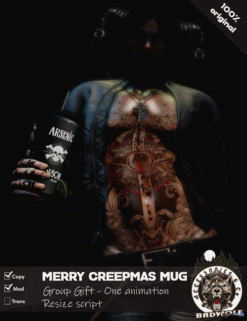 Merry Creepmas Mug December 2020 Group Gift by Badwolf - Teleport Hub - teleporthub.com