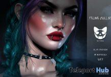 Feline Collar Blue Version December 2020 Gift by Mea Tenebra - Teleport Hub - teleporthub.com