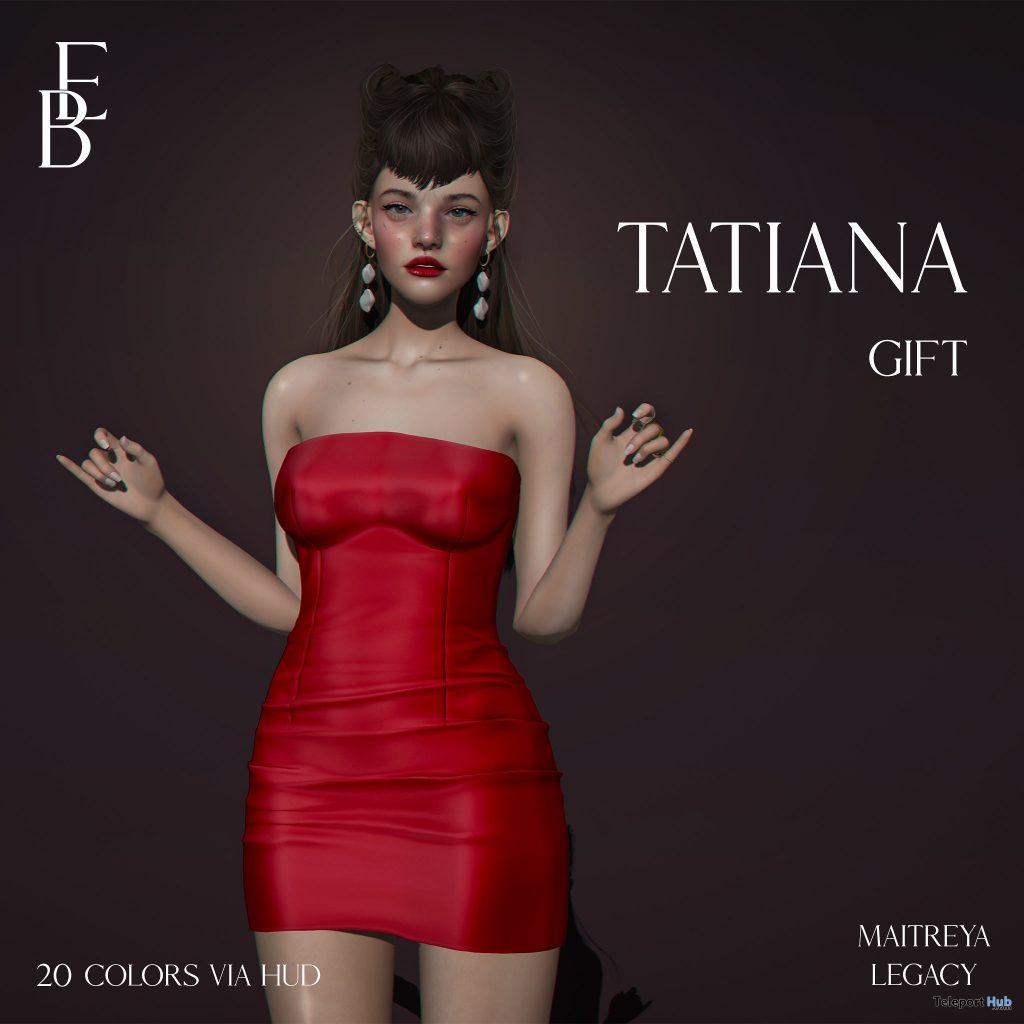 Tatiana Dress Fatpack December 2020 Group Gift by Belle Epoque - Teleport Hub - teleporthub.com