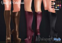 Delia Boots Fatpack December 2020 Group Gift by Hilly Haalan - Teleport Hub - teleporthub.com
