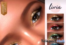 Festive Eyeshadow Genus & BOM December 2020 Group Gift by LIVIA - Teleport Hub - teleporthub.com