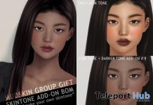 Skin Tone Addon BOM December 2020 Group Gift by MUDSKIN - Teleport Hub - teleporthub.com
