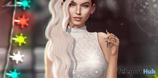 Kira Dress Snow Garland December 2020 Group Gift by Nanika - Teleport Hub - teleporthub.com