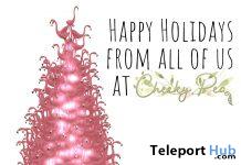 Festive Flamingo Tree December 2020 Group Gift by Cheeky Pea - Teleport Hub - teleporthub.com