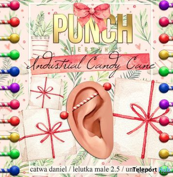 Industrial Piercing Candy Cane Christmas 2020 Gift by PUNCH Piercing Store - Teleport Hub - teleporthub.com
