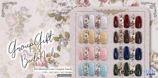Bento Nails December 2020 Group Gift by Lomomo - Teleport Hub - teleporthub.com