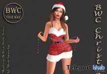 Christmas Dress, High Heels, & Santa Hat December 2020 Gift by BWC_Your Way - Teleport Hub - teleporthub.com