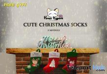 Cute Christmas Socks December 2020 Group Gift by Hana Kawaii - Teleport Hub - teleporthub.com
