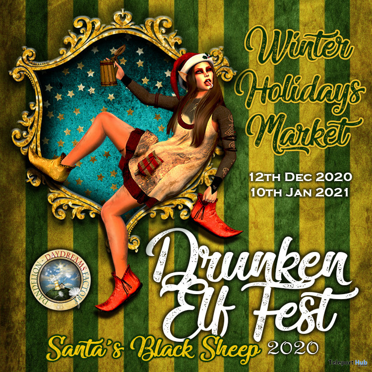 Drunken Elf Fest 2020: Santa's Black Sheep - Teleport Hub - teleporthub.com