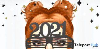 Happy New 2021 Glasses December 2020 Group Gift by Lola's Closet - Teleport Hub - teleporthub.com