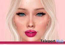 Pink Lucious Lips For Lelutka EVO December 2020 Group Gift by Lupus Femina - Teleport Hub - teleporthub.com